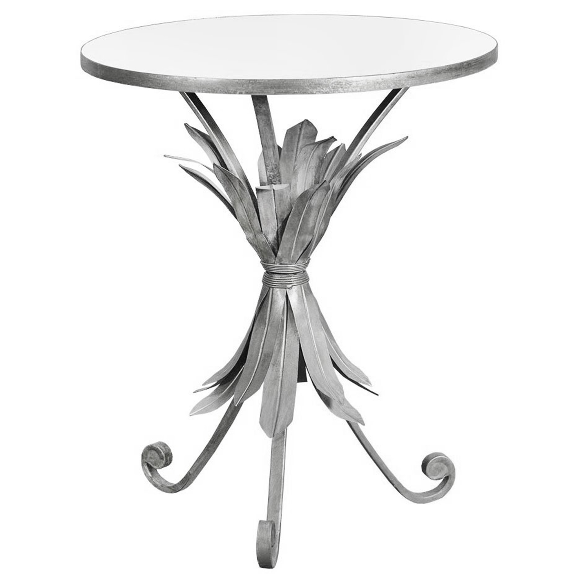 Silver Pineapple Gin Shu Parisienne Metal Coffee Table French