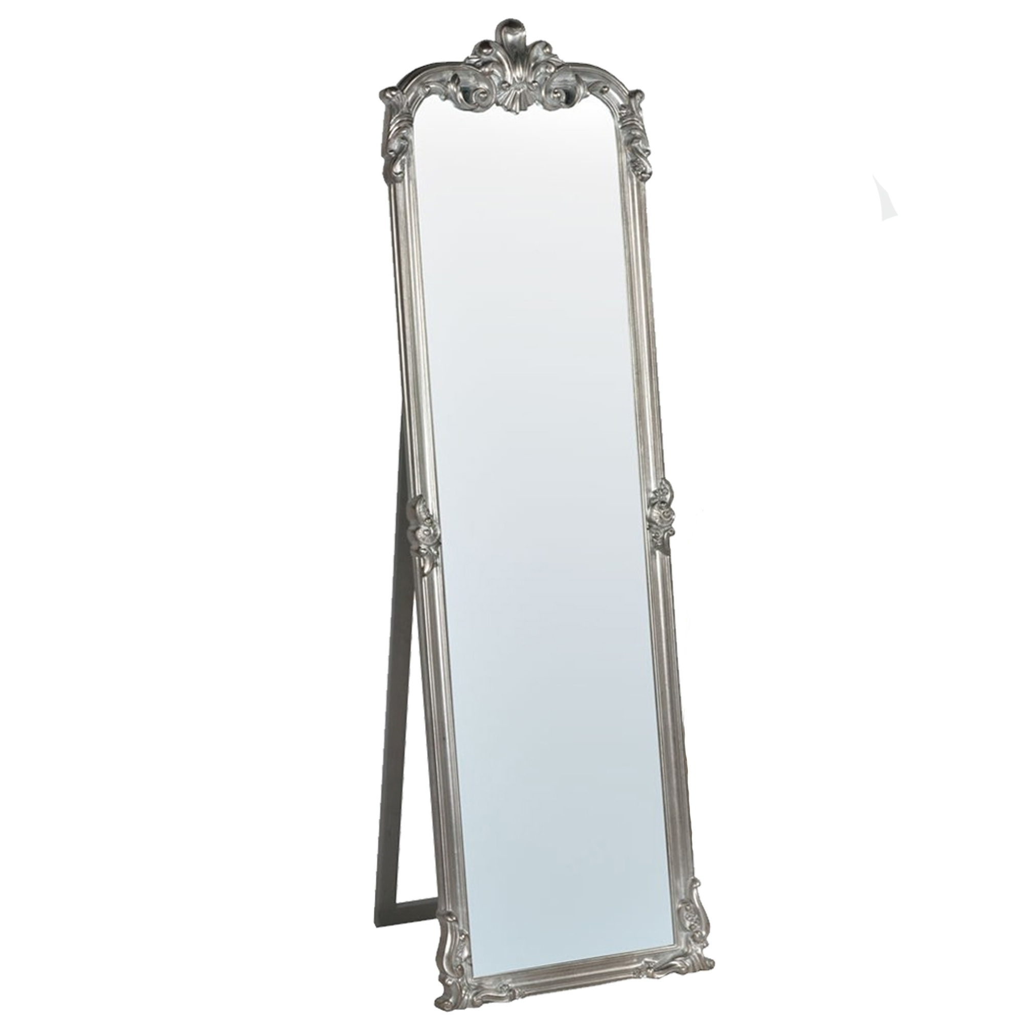 Silver rocaille antique french style mirror french style for French mirror