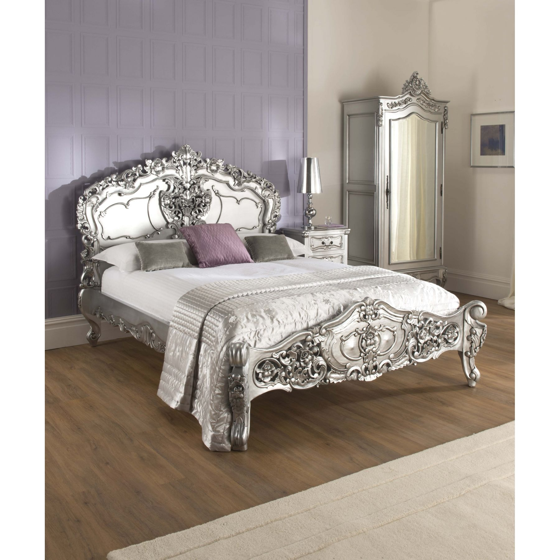 Silver Rococo Antique French Bed  Size  Kingsize    Mattress   Bundle Deal. Antique French Bed Bundle Deal   Half Price Mattress Deal
