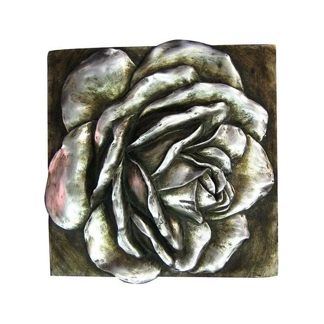 Silver Rose 3D Wall Plaque