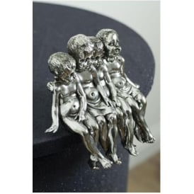 Silver Sitting Girls Ornament