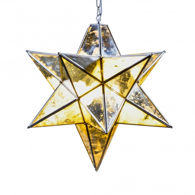 Silver Small Star Pendant Chandelier