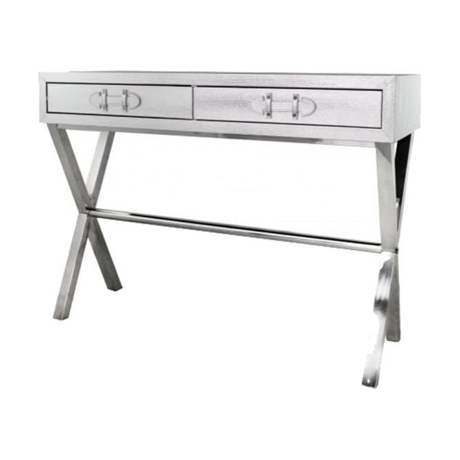 Silver Snakeskin Console Table