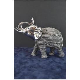 Silver Standing Elephant