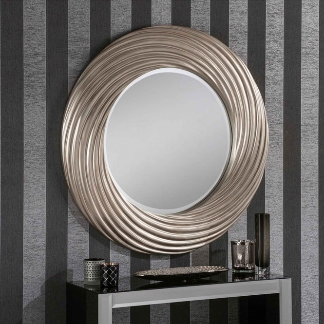 Silver Swirl Decorative Mirror