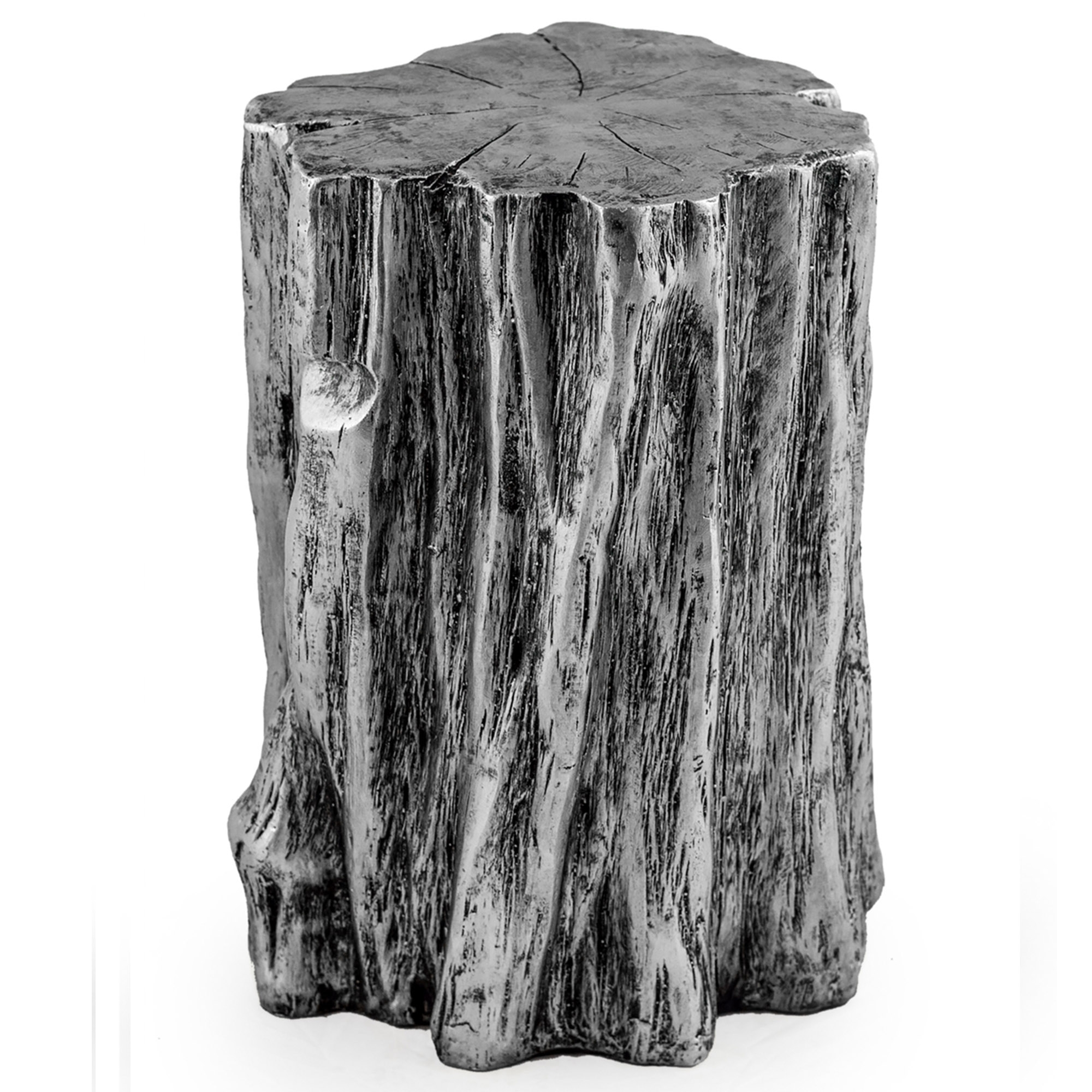 silver tree trunk stool available online now from homesdirect365