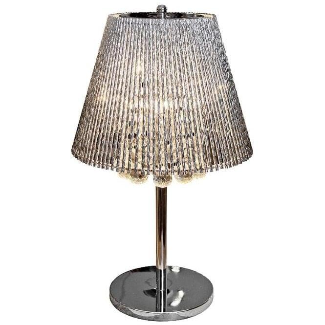 Silver Tube Shade Table Lamp