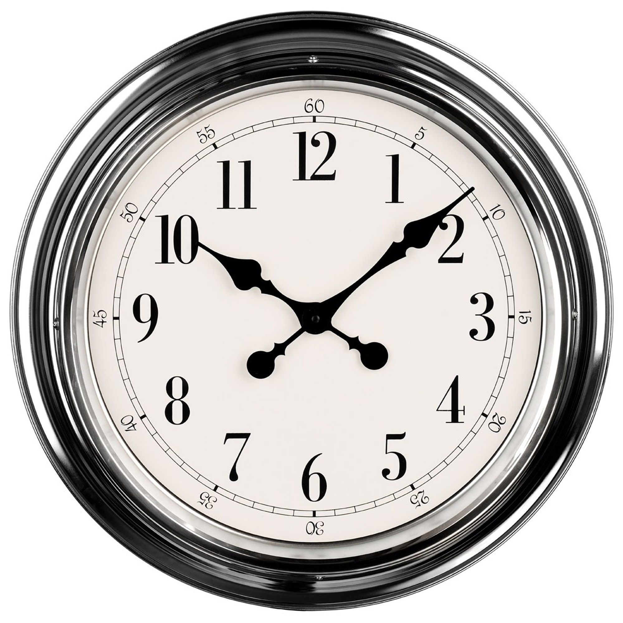 Silver wall clock contemporary living room accessories
