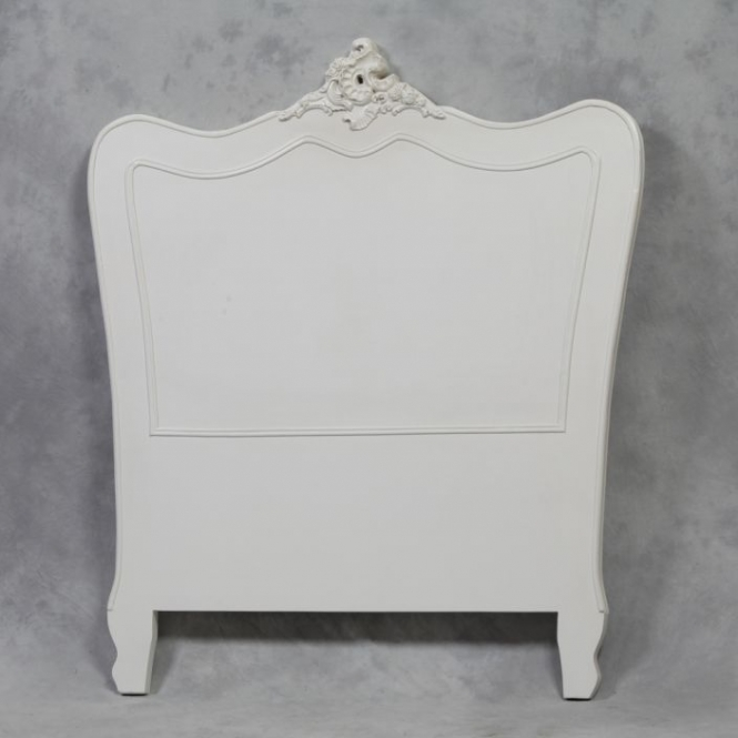Single Cream Antique French Style Headboard
