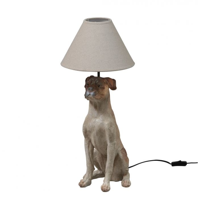 Sitting Dog Table Lamp With Shade Modern And Contemporary Lighting