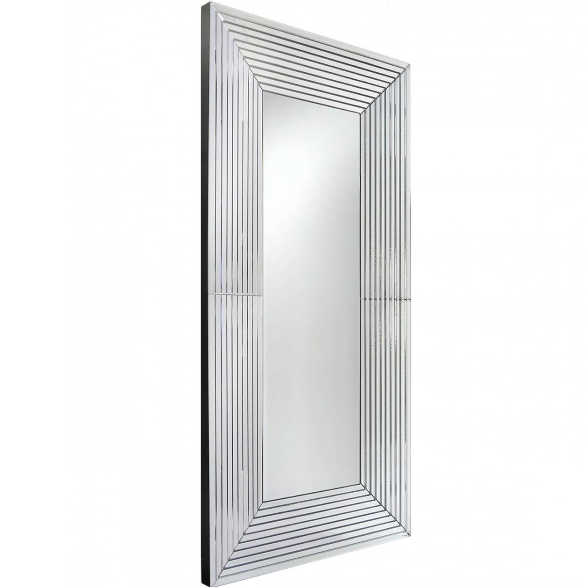 Slated Mirrored Frame Wall Mirror   Decor   HomesDirect365