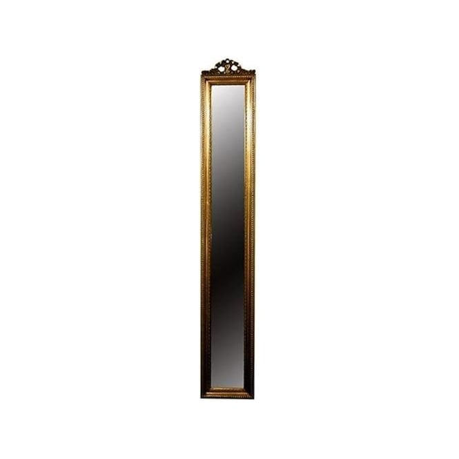 Slim Gold Antique French Style Mirror