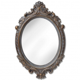 Small Antique French Style Oval Mirror