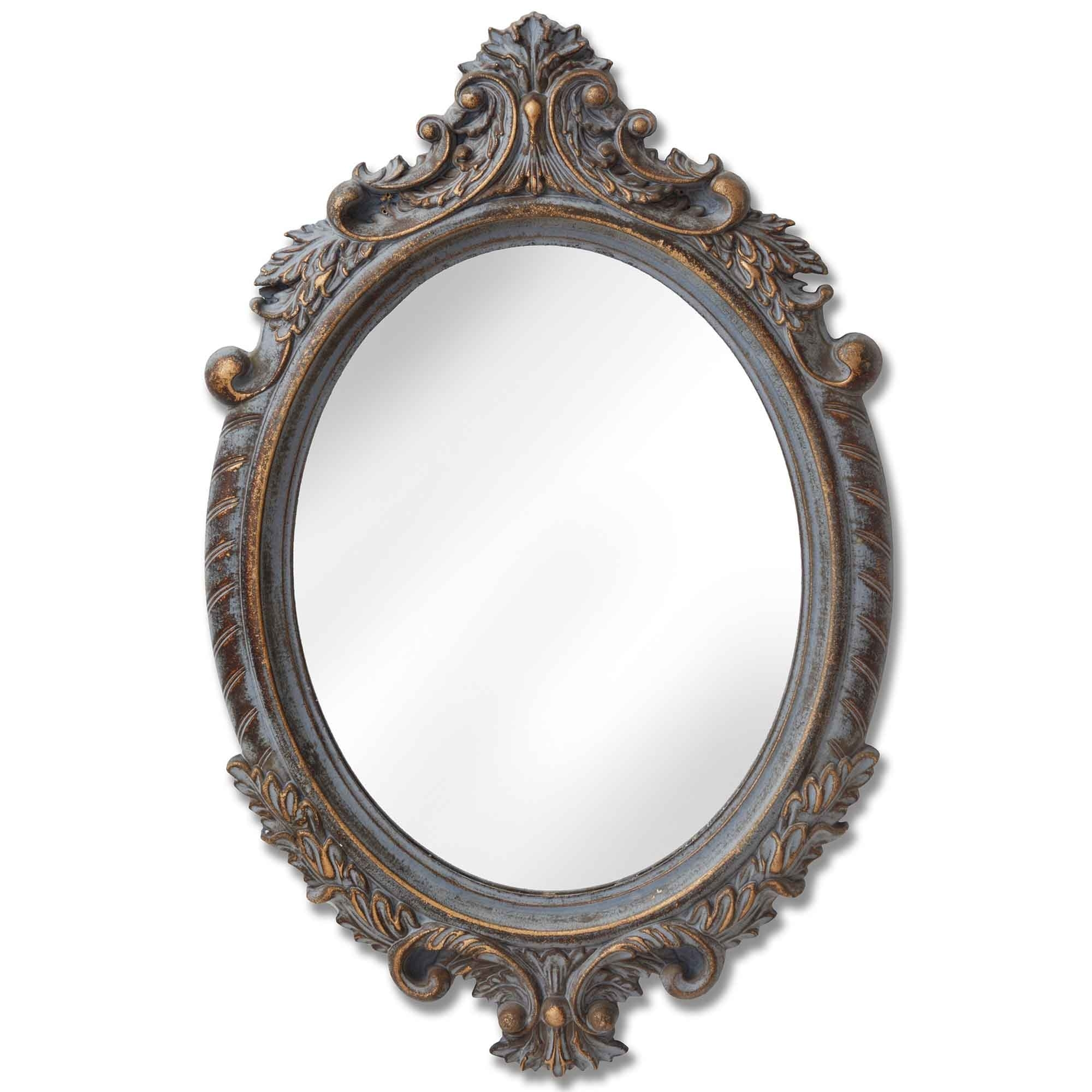 Mirrors Small: Small Antique French Style Oval Mirror
