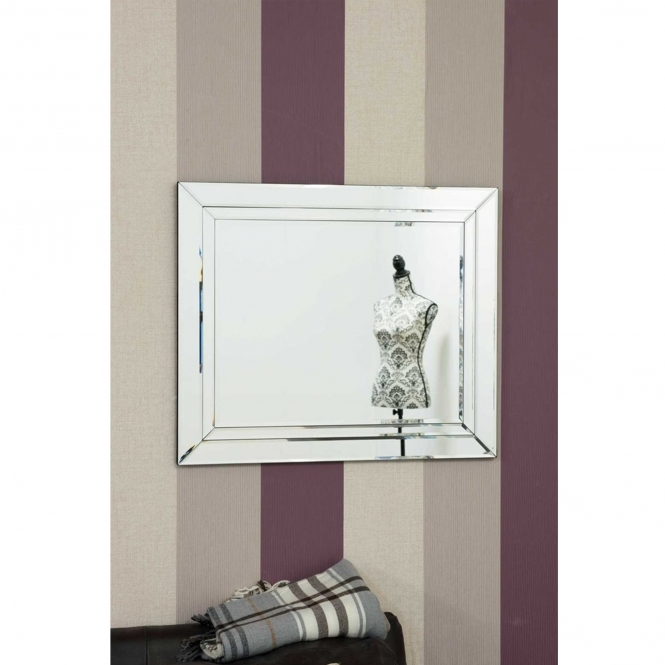 Small Bevelled Edged Frameless Venetian Mirror