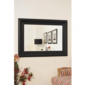 Small Black Antique French Style Mirror