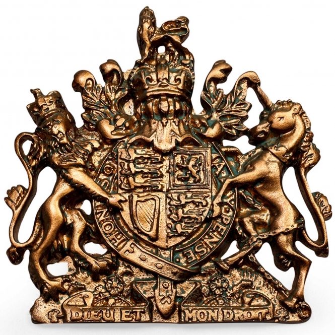 Small Bronze Coat of Arms Wall Plaque