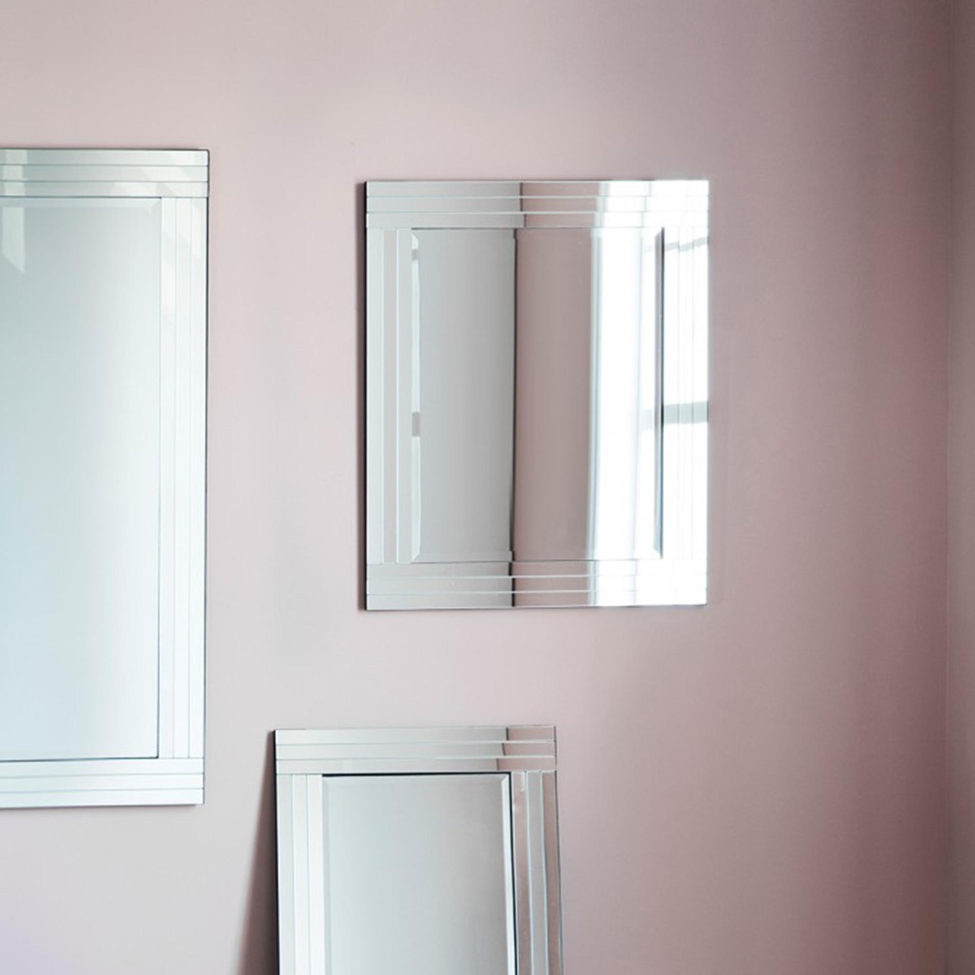 Small Burnside Venetian Mirror Mirrored Glass Mirrors Homesdirect365
