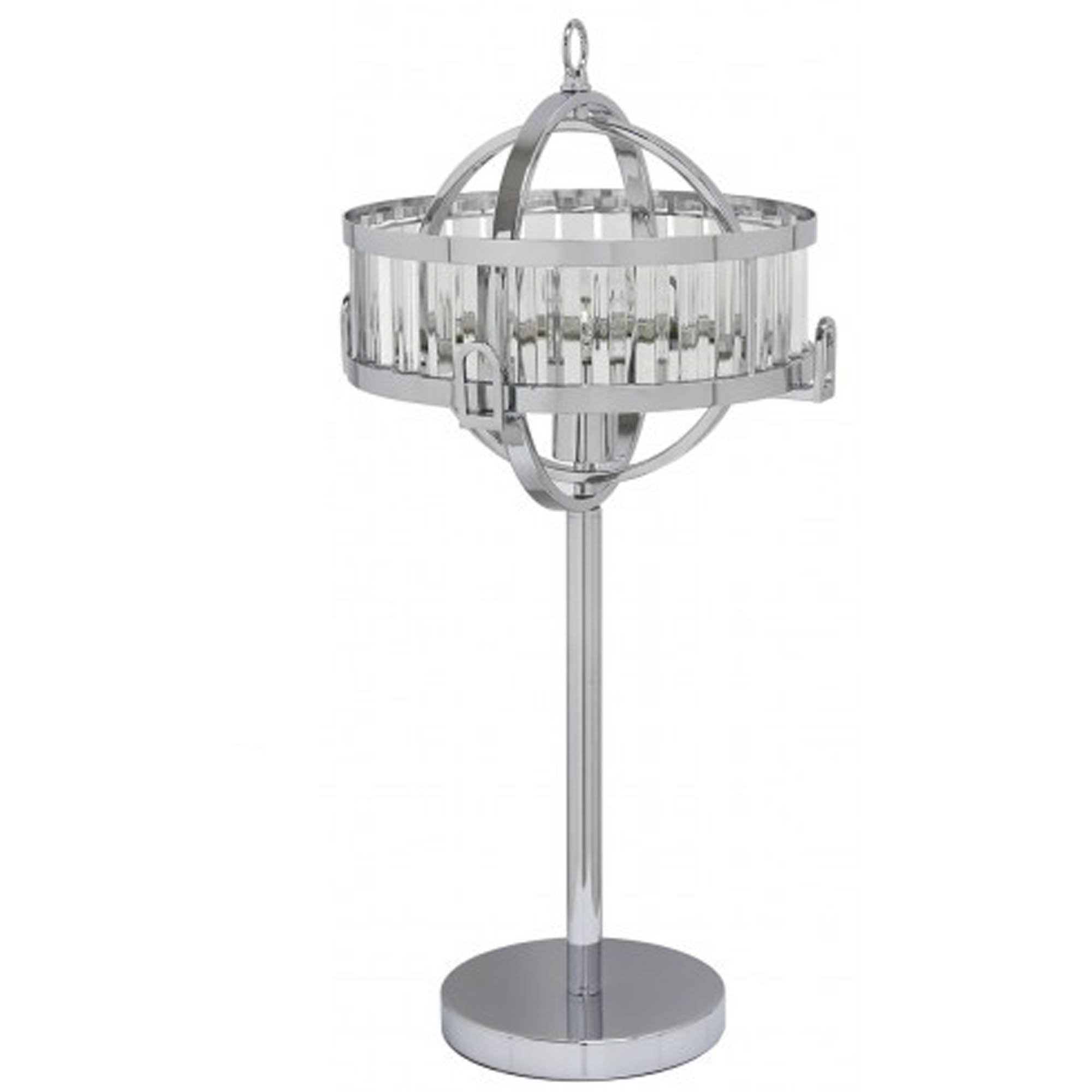 Picture of: Small Chrome And Crystal Table Lamp Lighting Homesdirect365