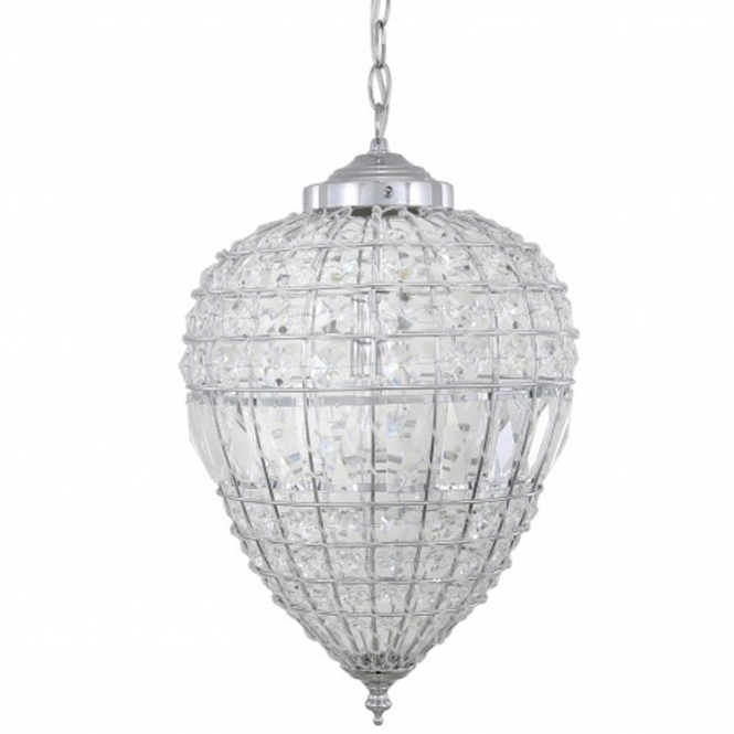 Small Clear Cut Glass Ceiling Light