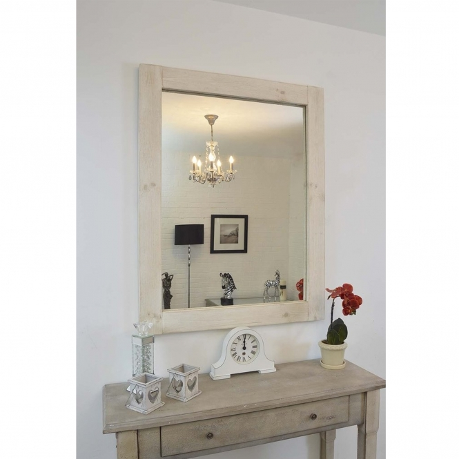 Small Country House White Mirror