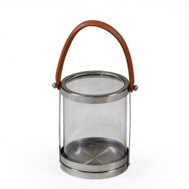 Small Glass & Stainless Steel Lantern