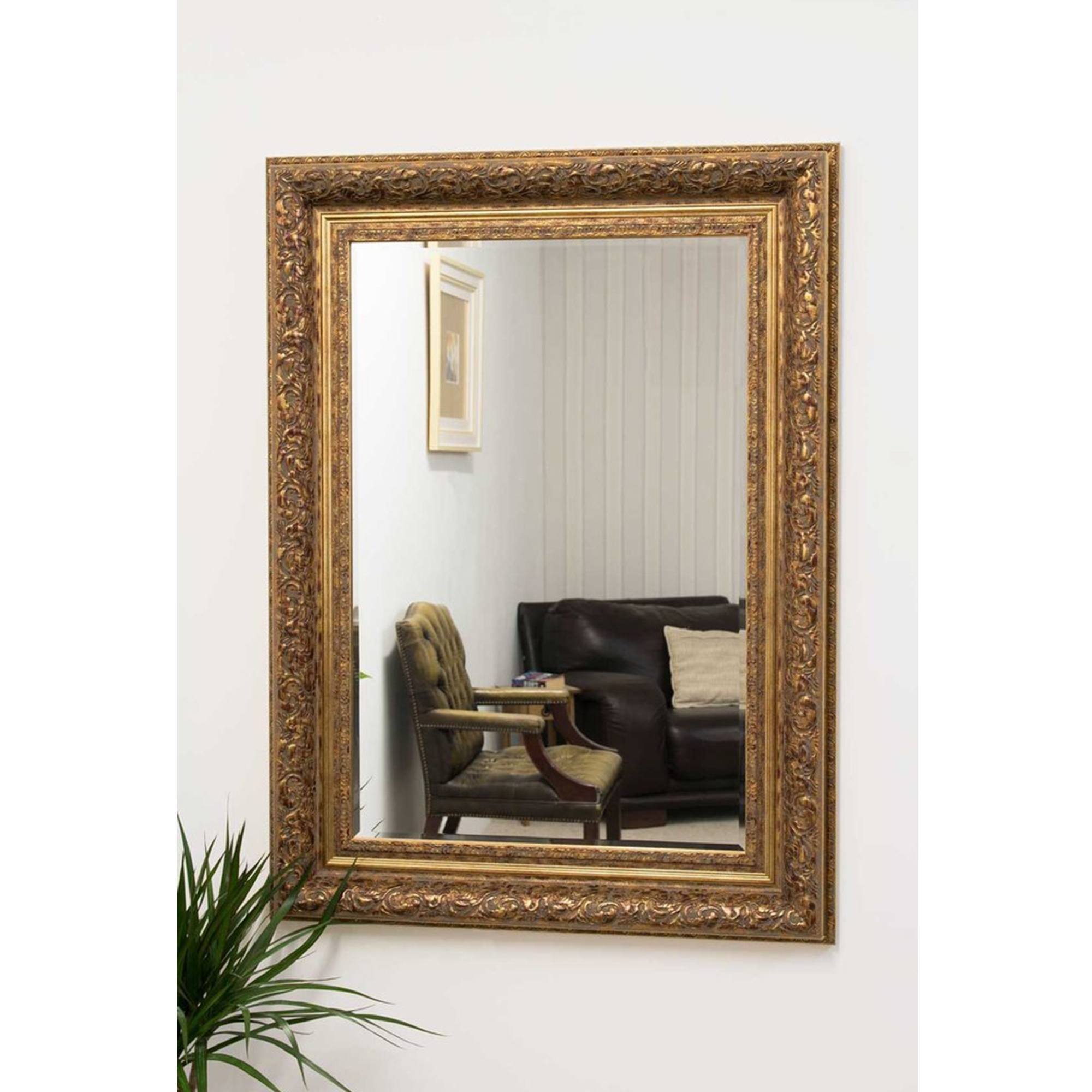 Small black antique french style mirror decorative mirrors for Small gold mirror