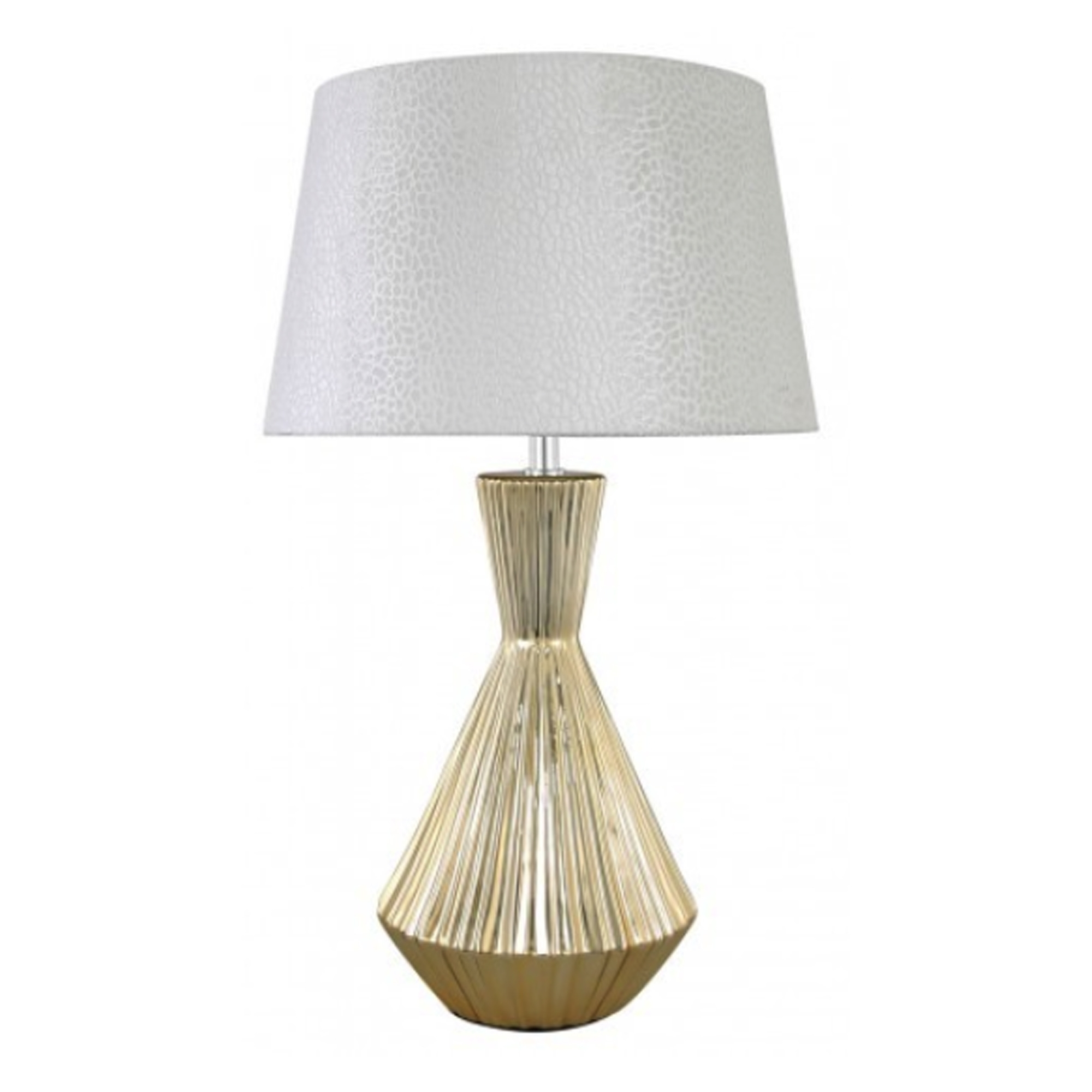 Small Gold Ceramic Modern Table Lamp | Table Lamps