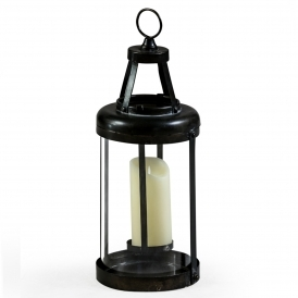 Small Industrial Antiqued Iron Lantern