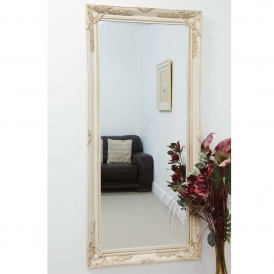 Small Ivory Decorative Antique French Style Mirror