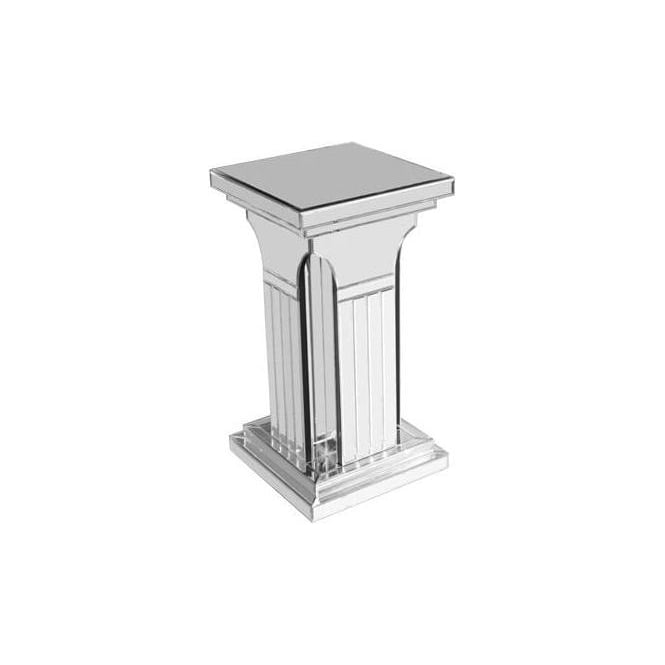 Small Mirrored Column Pedestal