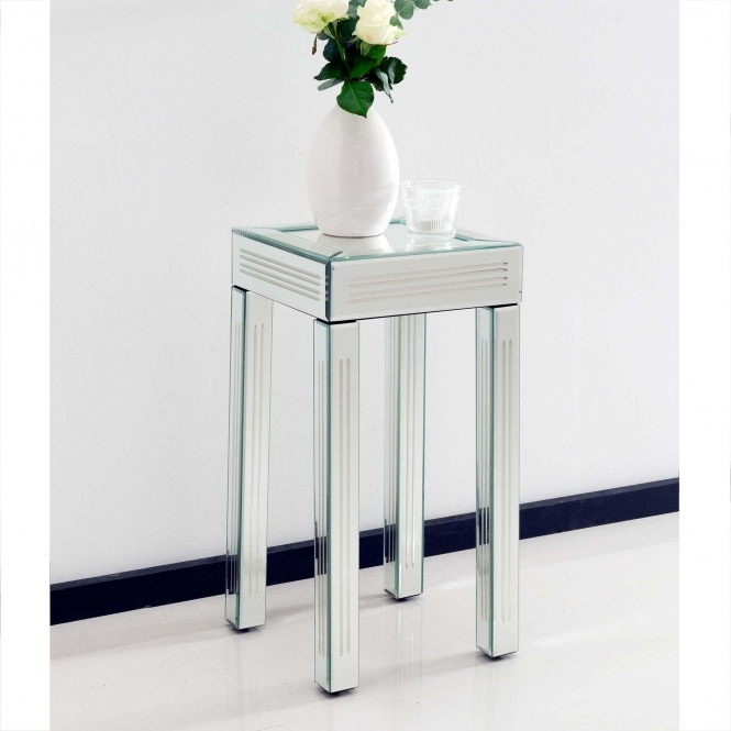 Small Mirrored Side Table