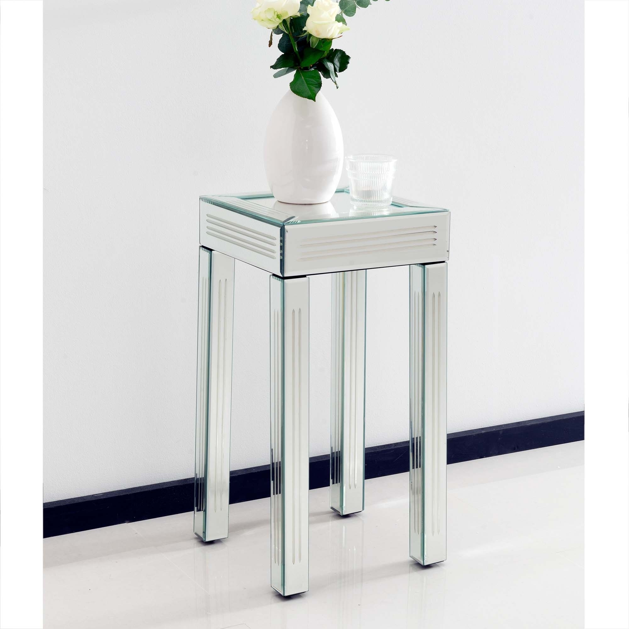 Small venetian mirrored side table for Furniture 365 direct