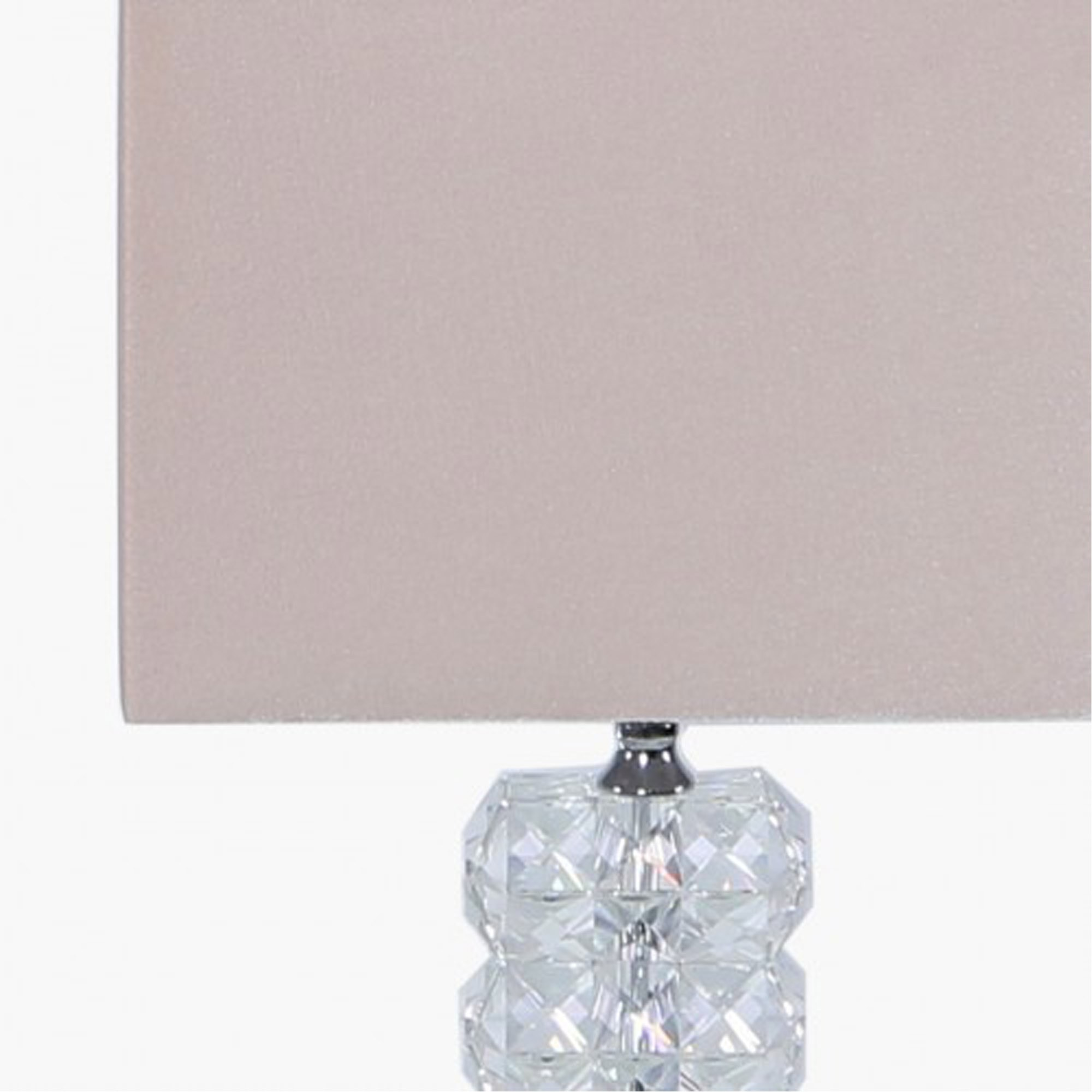 Picture of: Small Rectangle Crystal Table Lamp With Pink Velvet Shade Table Lamp