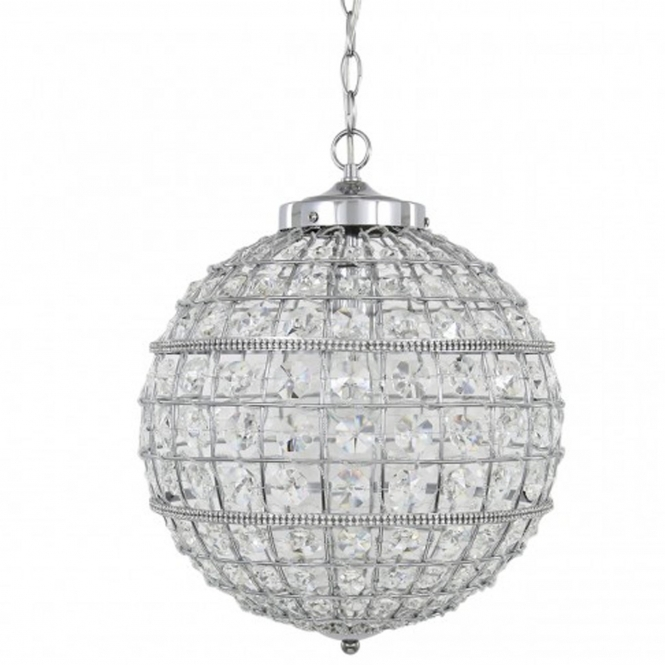 Small Round Clear Cut Glass Ceiling Light