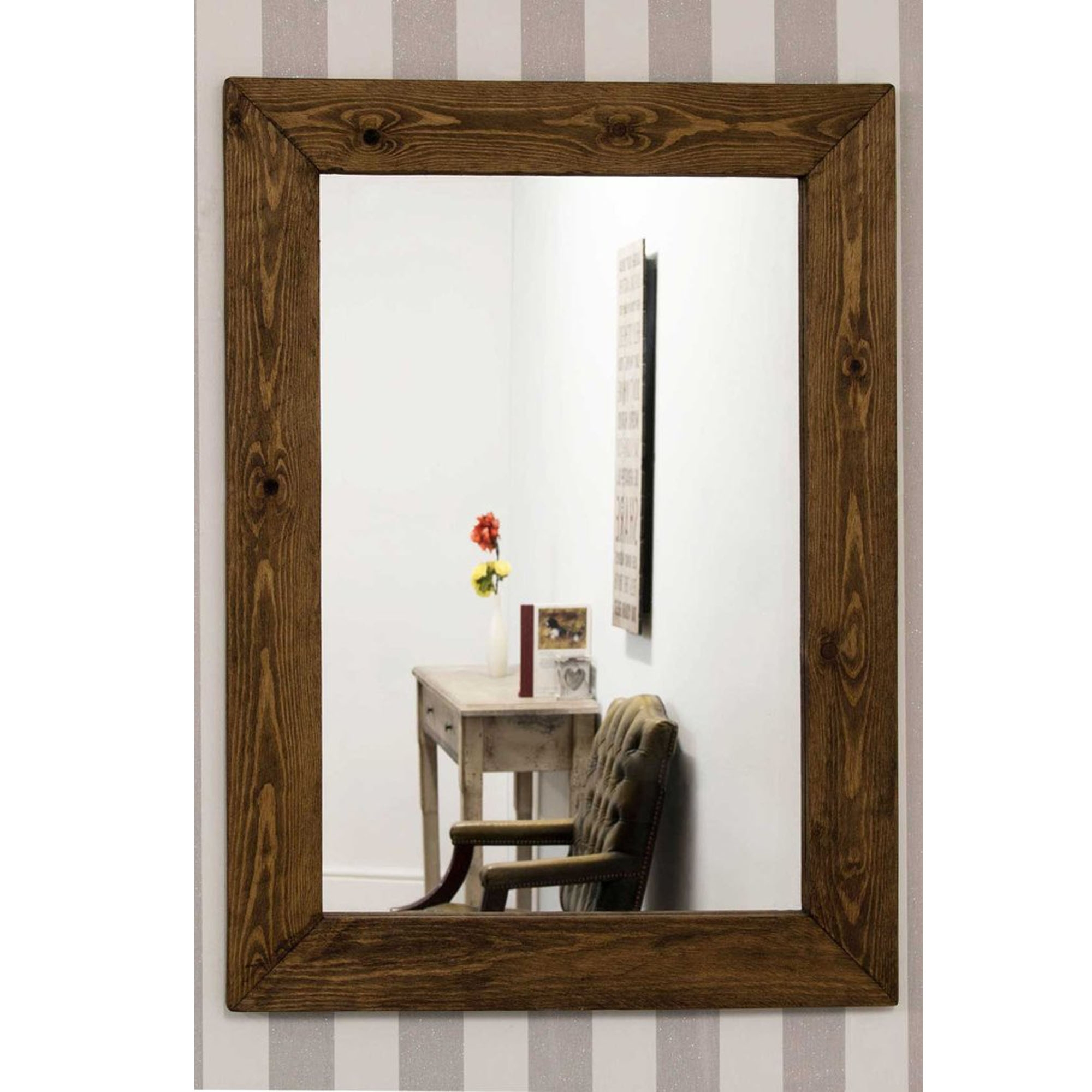 Small Rustic Country House Rectangular Wall Mirror | Home ...
