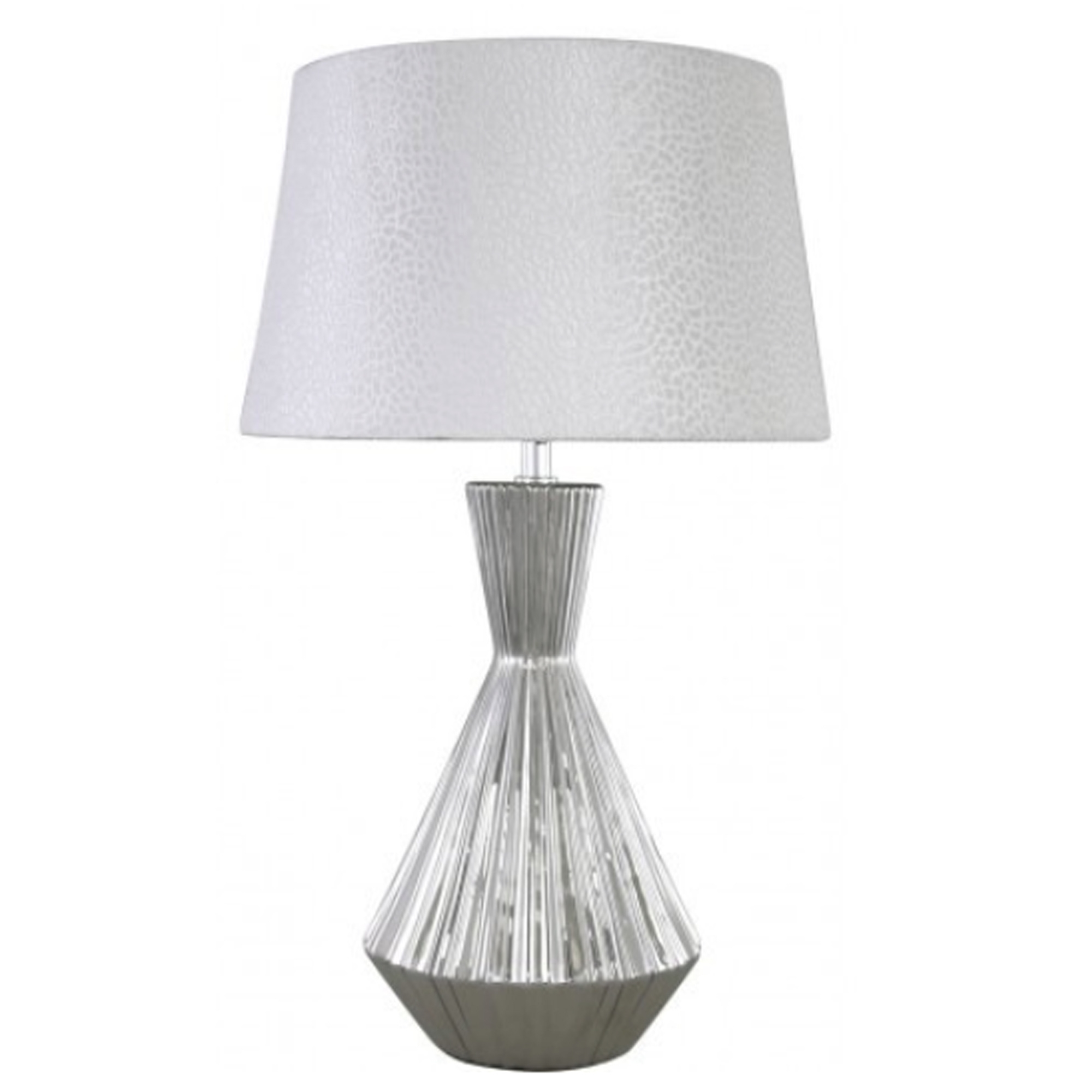 Small Silver Ceramic Modern Table Lamp Table Lamps