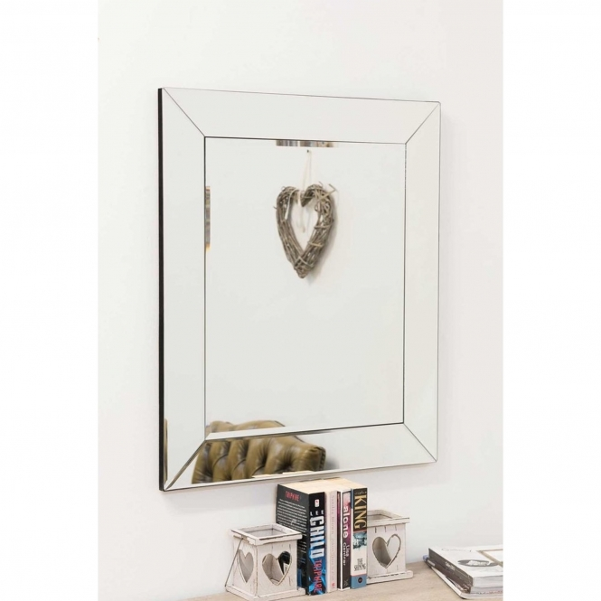 Small Venetian Frameless Wall Mirror
