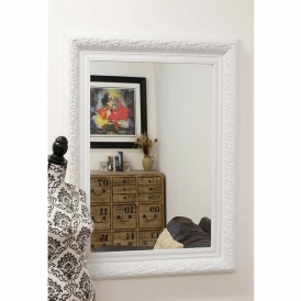 Small White Antique French Style Wall Mirror