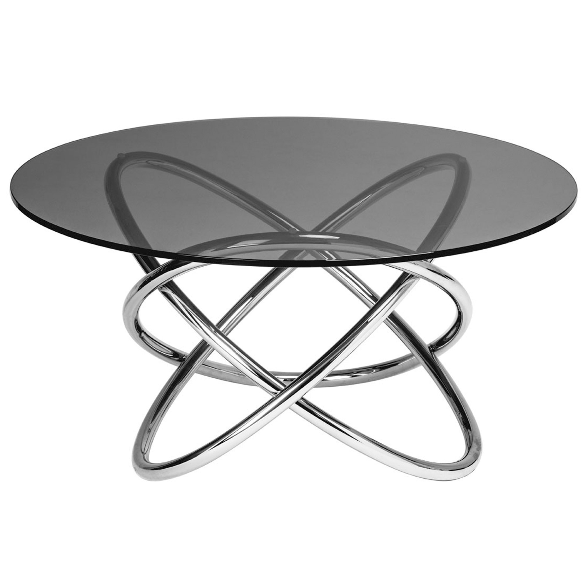 Smoked Glass Coffee Table Modern Contemporary Furniture