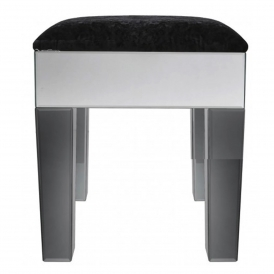 Smoked Mirrored Stool