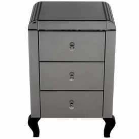 Smokey Mirrored Bedside Table
