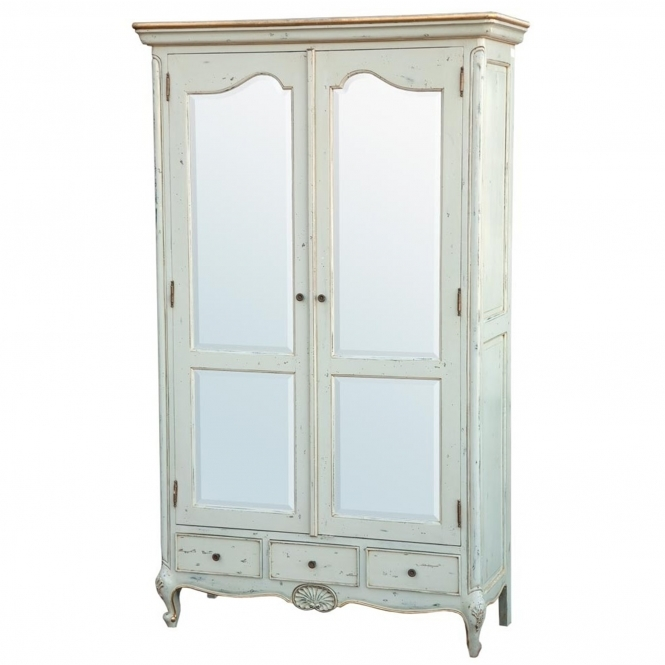Soft Blue Antique French Style Wardrobe