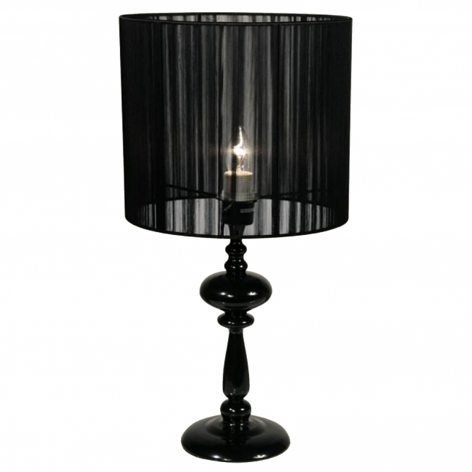 Solid Black Table Lamp