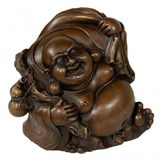 Solid Bronze Budda With Sack