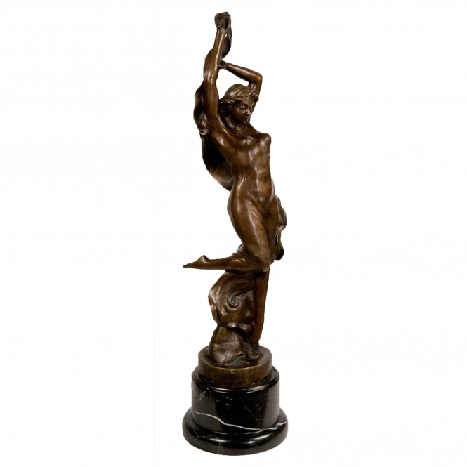 Solid Bronze Statue of Woman Dancing