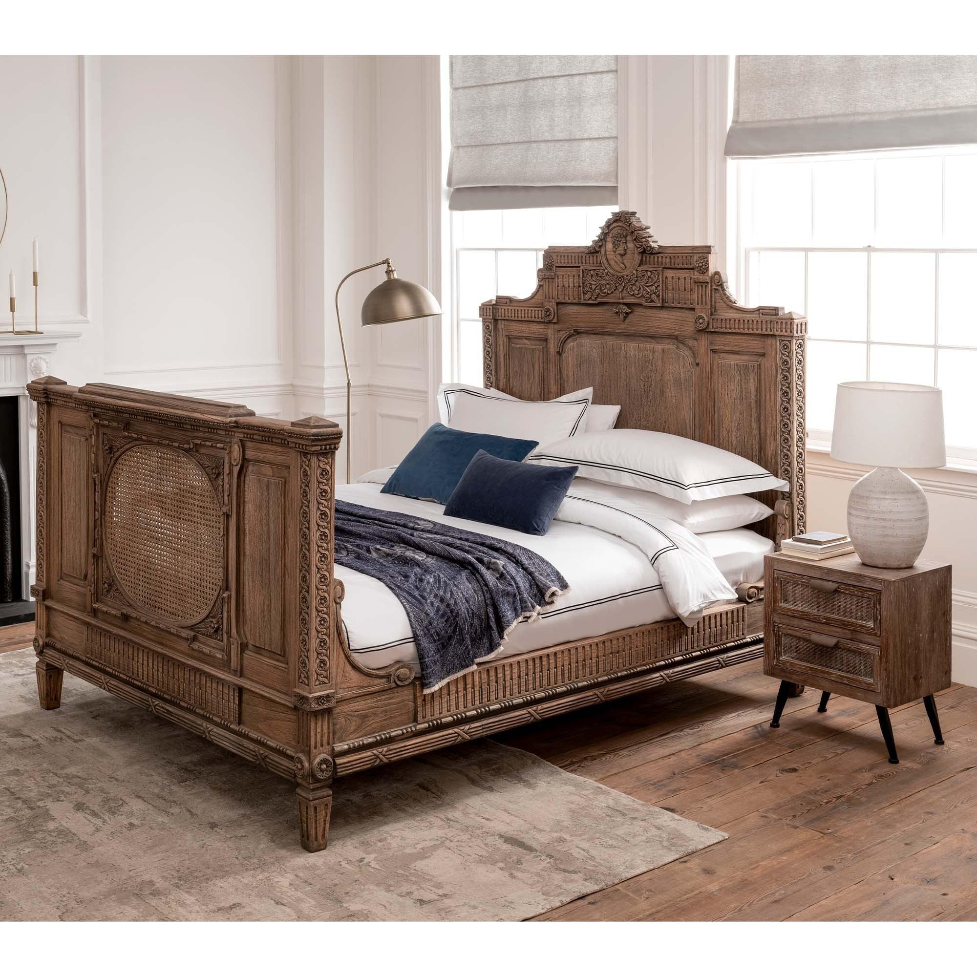 Solid Wood Carved Bed Frame Carved Bed Frame Wooden Bed Frame