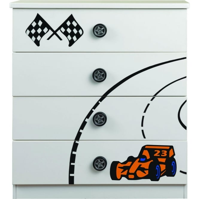 Sonic White 4 Drawer Chest