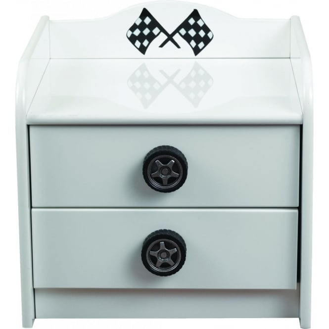 Sonic White Kids Bedside Cabinet