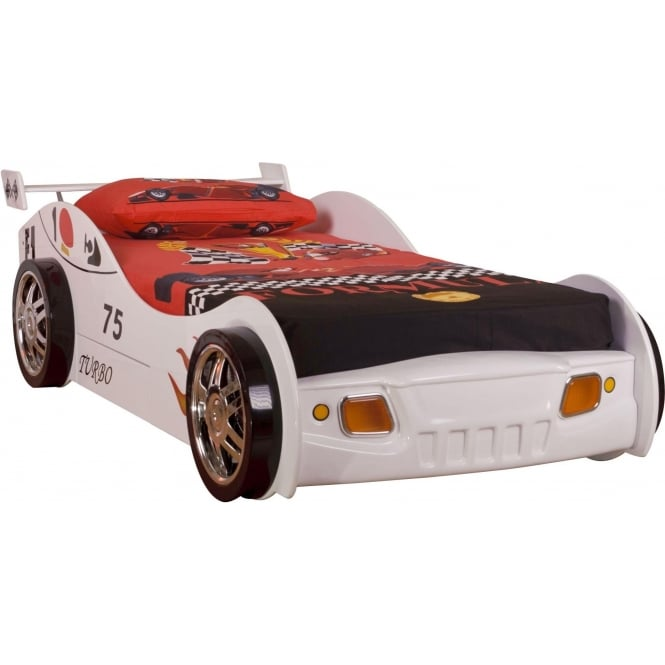 Sonic White Kids Car Bed